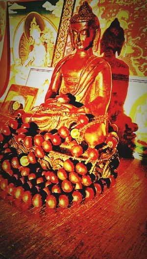 Statue Art And Craft Sculpture Spirituality Religion Indoors  Themagicmission Place Of Worship Gold Golden Color IMography Selective Focus EyeEm Best Shots Eyeem Photography Eyeem Collection New Talent This Week Eyeem New Talent EyeEm Best Edits EyeEm Gallery Eyeem Market Art EyeEmBestPics Buddhastatue Buddhas Buddhayana