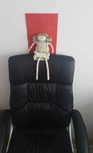Red Dude Doll Doll In The Chair Indoors  No People Day