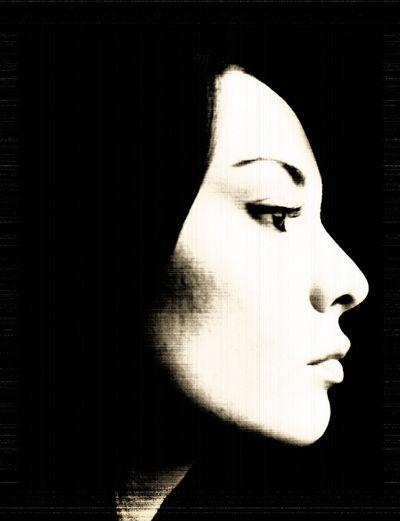 Woman profile Black And White Dark Lifestyles Lonelyness Portrait Profile Sadness Woman Woman Who Inspire You Women Who Inspire You Black&white Blackandwhite Black And White Photography Playing With FiltersBlack & White Blackandwhite Photography Blackandwhitephotography Black And White Collection  Woman Portrait Woman Face Women