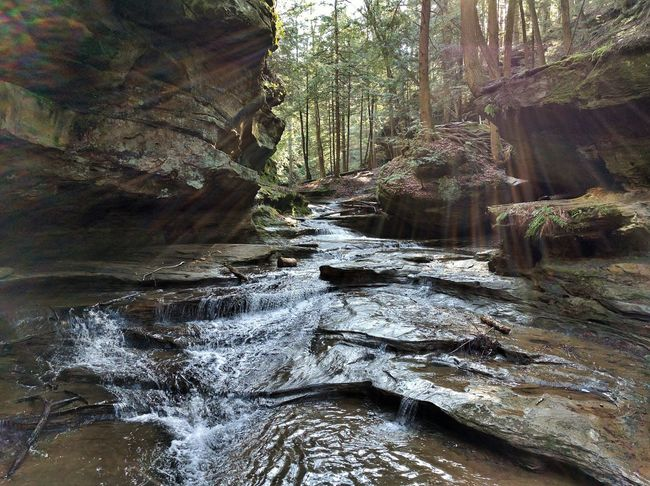 Showcase April Water Reflections Water Waterfall Spring Hanging Out Check This Out Optoutside Tree Outdoors Hockinghills Ohio Hiking Relaxing