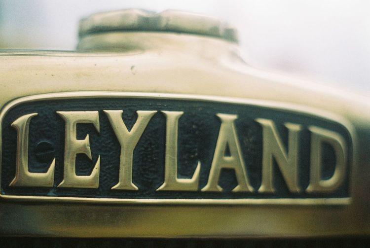 Leyland Radiator logo Automotive Brass British Leyland Close-up Film Photography Fire Engine Leyland Log Logo No People Old-fashioned Radiator Caps Radiator Grill Text Transportation Vintage Transport