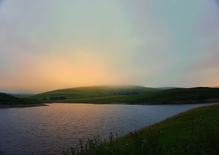Sunrise at Elan Valley Sunrise Scenics Nature Beauty In Nature Tranquil Scene Tranquility Water Mountain No People Outdoors Idyllic Sky Sea Travel Destinations Sunset Day