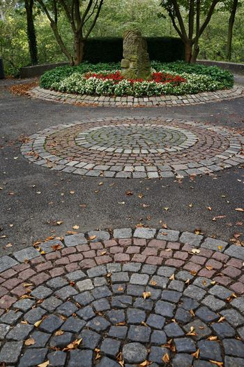 Gehweg Steinpflaster Autumn Beauty In Nature Change Close-up Cobblestone Day Grass Growth Leaf Nature No People Outdoors Parking Pattern Plant The Way Forward Tranquility Tree