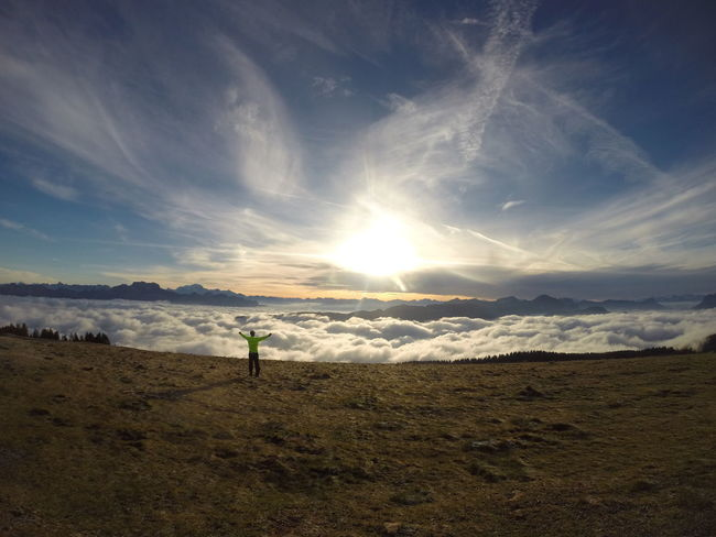 I'll never forget this moment Happy Nature Beauty In Nature Bike Clouds And Sky Go Higher Mountain Sky Sunlight Sunrise