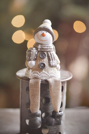 Close-Up Of Snowman Figurine