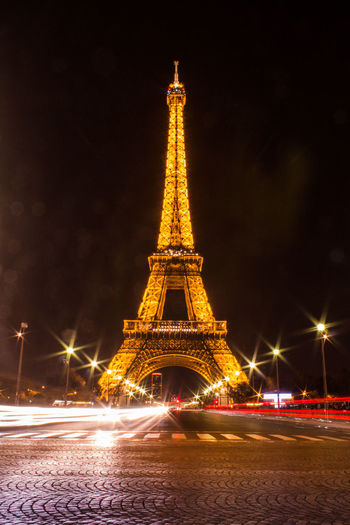 Architecture City Cultures Eiffel Tower History Illuminated Monument Night Nightphotography No People Outdoors Paris Sky Tour Eiffel Tower Travel Travel Destinations Traveling Home For The Holidays EyeEmNewHere