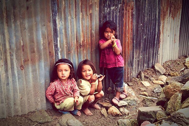 Cute dolls in sindhupalchwok after devasted earthquake