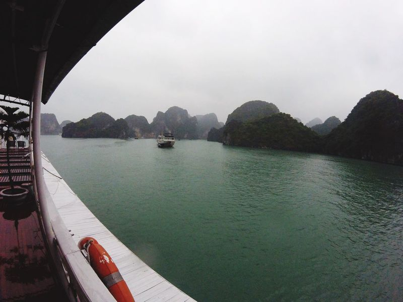 Halong Bay, Hanoi, Vietnam, Southeast Asia, Asia, travel, vacation, backpacking Backpack Cruiseship Halong Bay  Water Scenics Built Structure