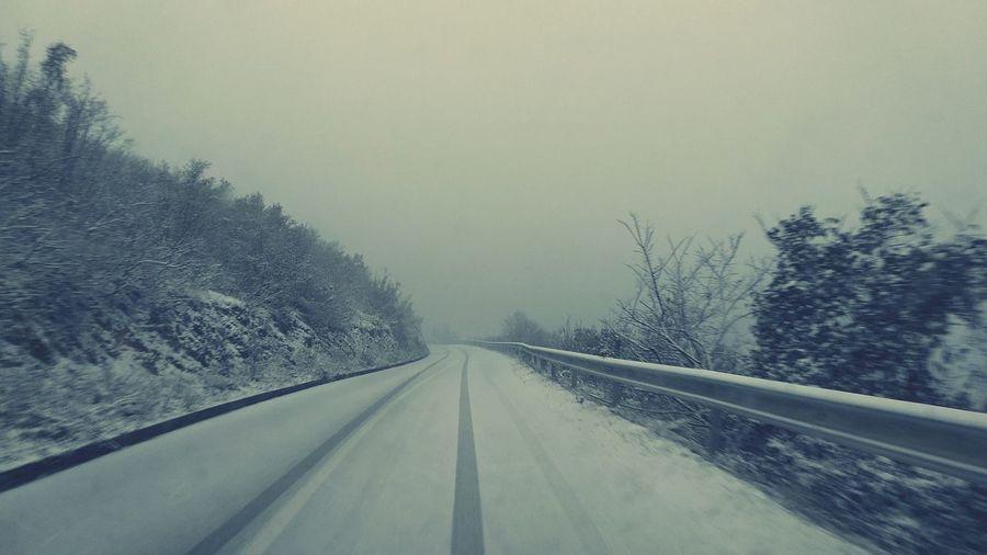 #roadtonowhere #snow #road #winter #beauty #roadtonowhere #snow #winter