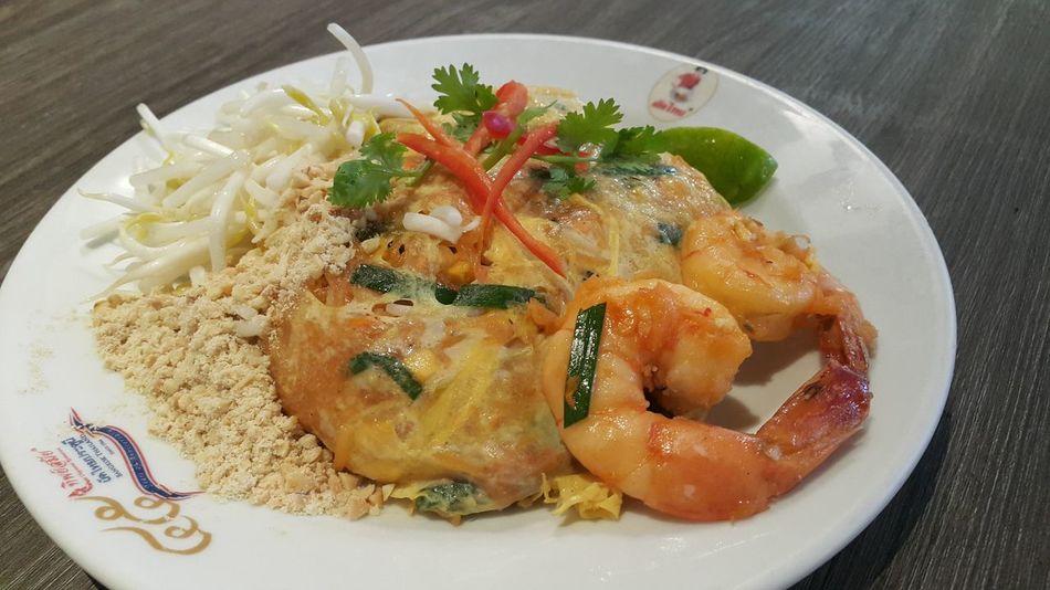 Thailand Food Thai Food Phathai Thipsamai Bangkok Thailand Thailand Street Foods Noodles City Plate High Angle View Close-up Food And Drink