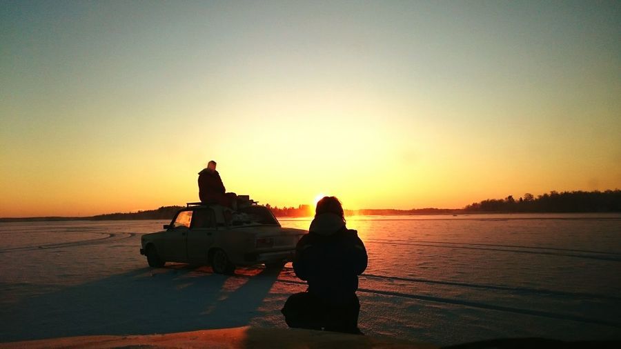 Finland Winter LADA Sunset Sun Ice Sony Xperia Z3 Sky Glorydays Rimlight Scandinavia Snow Landscape