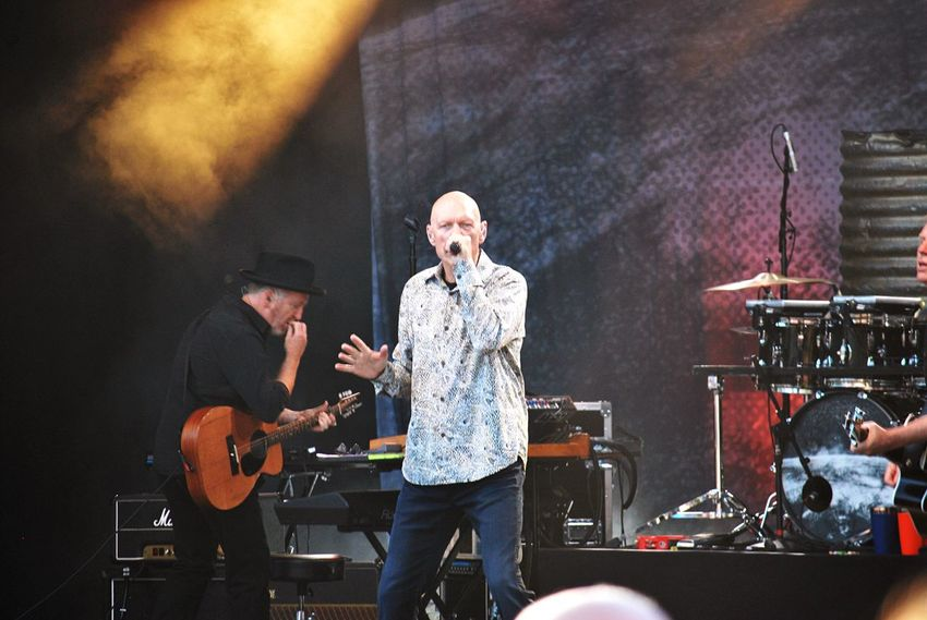 Peter Garrett and Jim Moginie of Midnight Oil Music Arts Culture And Entertainment Guitar Performance Musical Instrument Musician Stage - Performance Space Real People Casual Clothing Playing Men Electric Guitar Skill  Indoors  Singer  Singing Standing Only Men Night Jim Moginie Peter Garrett Rock Music Outdoors Great Circle Midnight Oil Sommergefühle Let's Go. Together. The Photojournalist - 2018 EyeEm Awards The Portraitist - 2018 EyeEm Awards The Troublemakers