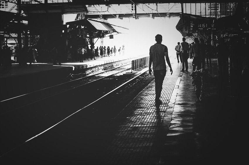 Commuting Railway Station Waiting For The Train Mumbai