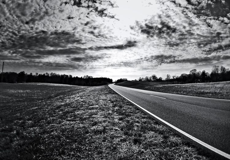Blackandwhite Landscape The Long And Winding Road