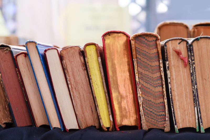 Close-up of books