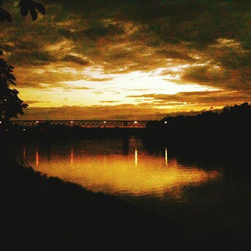 Senta Serbia Vojvodina Vajdaság Cloudly Night Life Darkness Bridge Bridgeporn Tisza