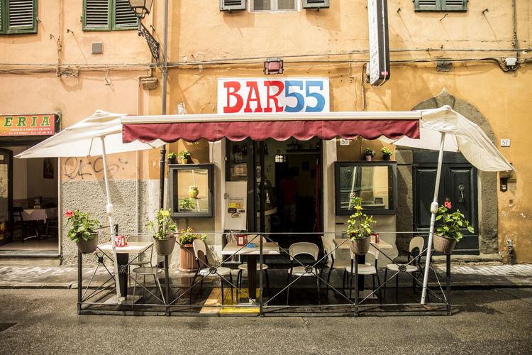 Exterior of bar