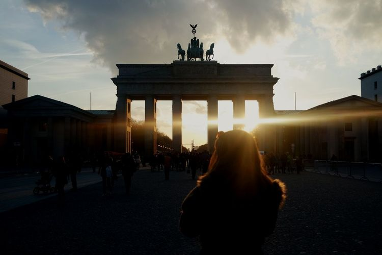 Capture Berlin Travel Destinations City Architecture City Gate Built Structure Outdoors History Statue Adults Only People Sky Adult Real People Men Day Travel Photography Sun