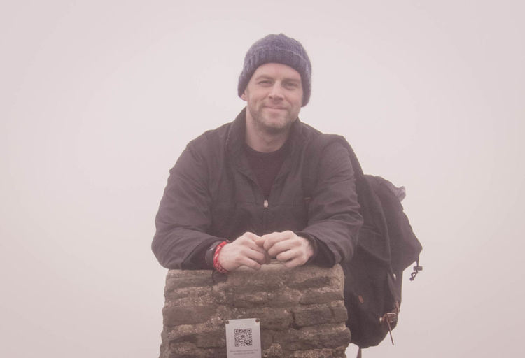 Adult Adults Only Beard Cold Temperature Day Knit Hat Men Mountain One Man Only One Person Only Men Outdoors Pen-y-ghent People Portrait Smiling Three Peaks Winter Yorkshire Dales Yorkshire Three Peaks Young Adult