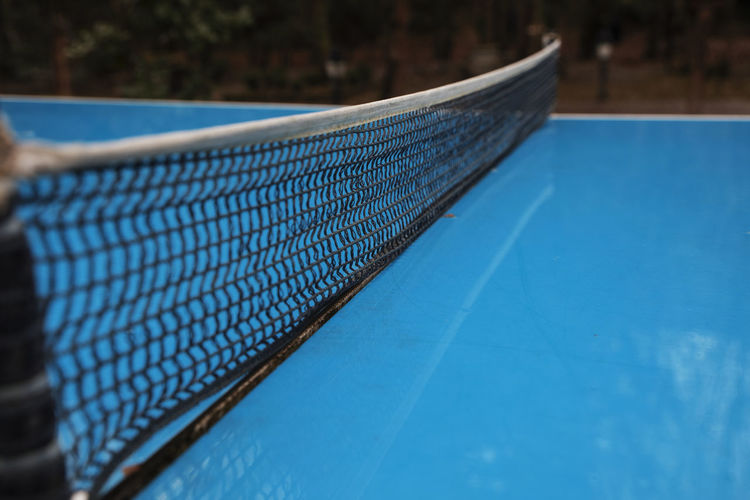 Close-up of net on table tennis