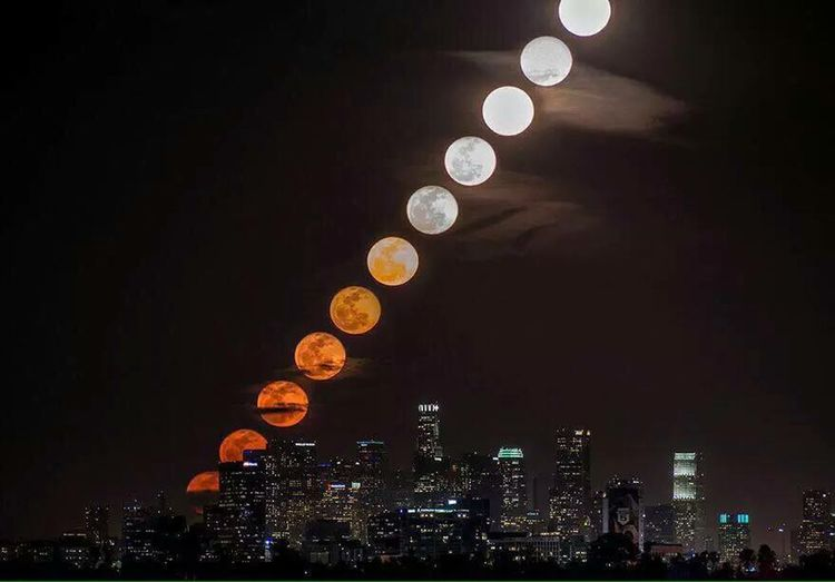 time laps photo for 28min in Losangeles USA EyeEm Nature Lover Bloody Moon Eclipse Nice View Check This Out >> Followme 😉👍