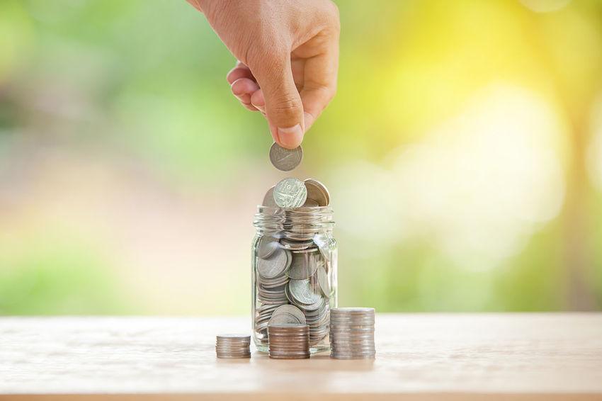 Saving money concept, money coin stack growing business Business Growing Stack Coin Concept Money Saving Saving Money