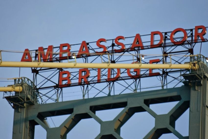 Ambassador Bridge Usa To Canada Long Distance Shot