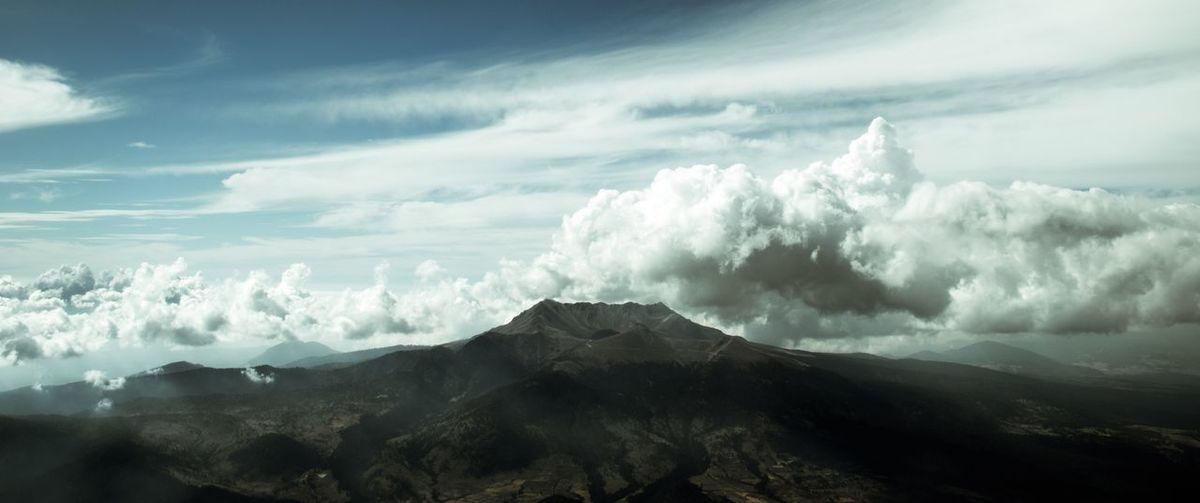 Mountain Sky Landscape Cloud - Sky Volcanic Crater Lava Volcanic Landscape Volcanic Rock Volcano Java Sulphur Active Volcano Smog Volcanic Activity Ash Erupting