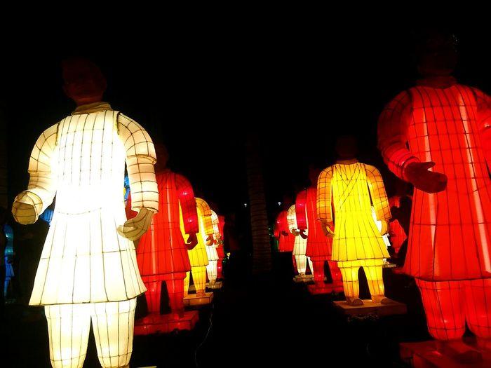Night Illuminated Art Imperial Soldier