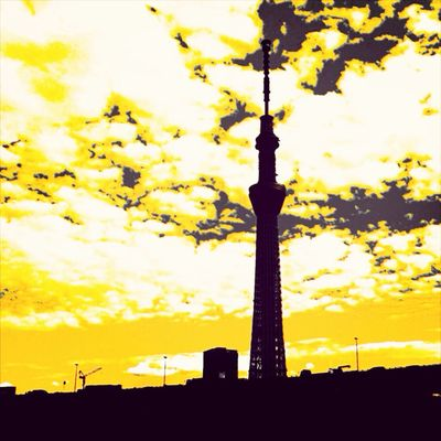 Colorsplash Tokyo Sky Tree Clouds And Sky Sky_collection
