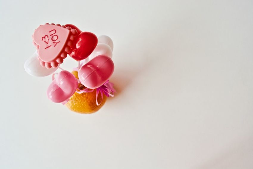 EyeEm Selects No People Pink Color White Background Close-up Valentine's Day  Holidays Pink Hearts Valentinesday Indoors
