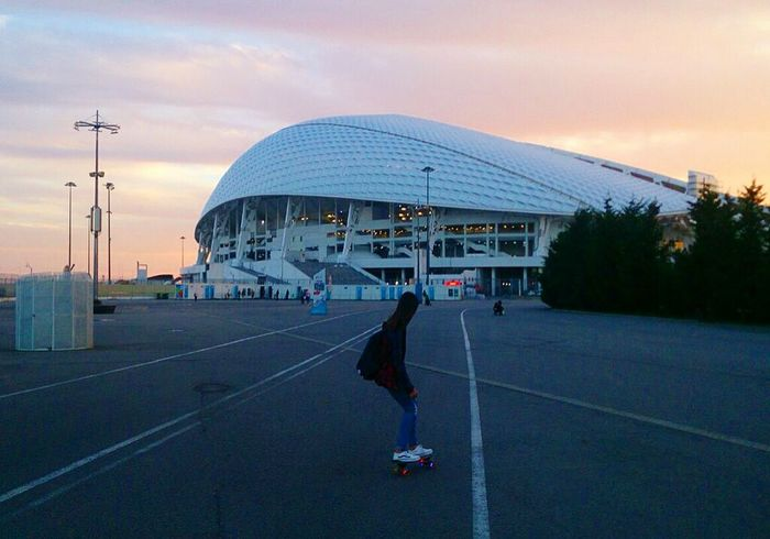 Longboard Girl Longboard Love♥ Sport In The City Olimpic City /// Sochi The City Light EyeEmNewHere
