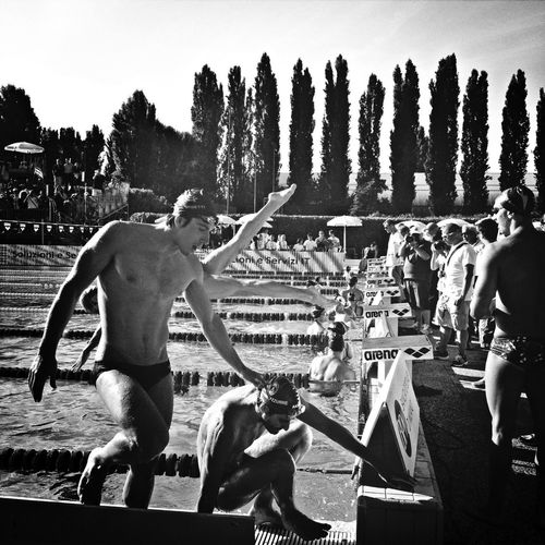Athletes Black And White Blackandwhite Bw_collection Swimming