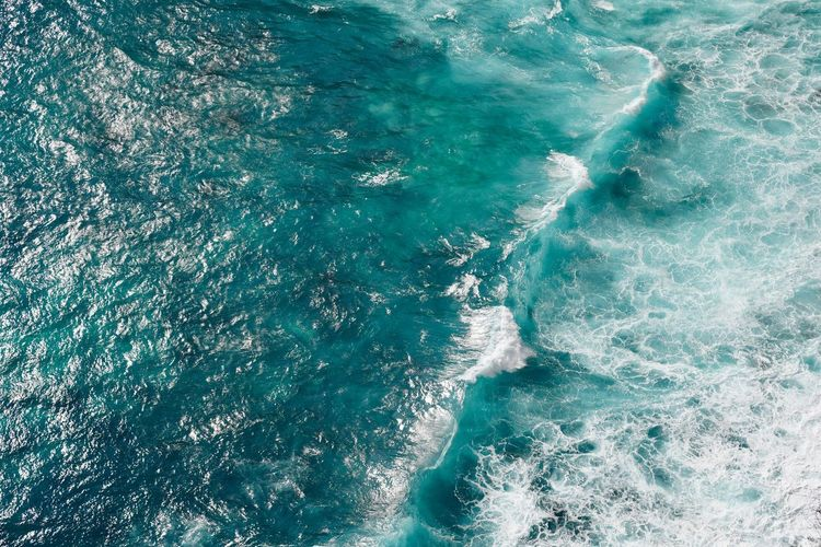 Wave Aerial Aerial View Aquatic Sport Backgrounds Beauty In Nature Day Full Frame High Angle View Motion Nature No People Outdoors Pattern Power In Nature Scenics - Nature Sea Sport Turquoise Colored Water Waterfront Wave The Great Outdoors - 2018 EyeEm Awards The Traveler - 2018 EyeEm Awards
