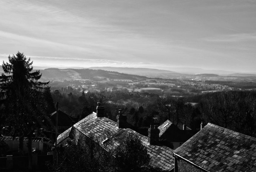 Archival Tree Sky Built Structure No People Outdoors Day Nature Countryside Black And White Black & White Rooftop View  Rooftop Lanscape Photography Landscape Malvern Malvern Hills Worcestershire Uk Malvernhills Black And White Friday