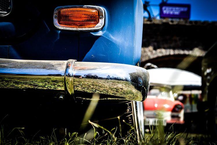 Bumper of old fashioned car