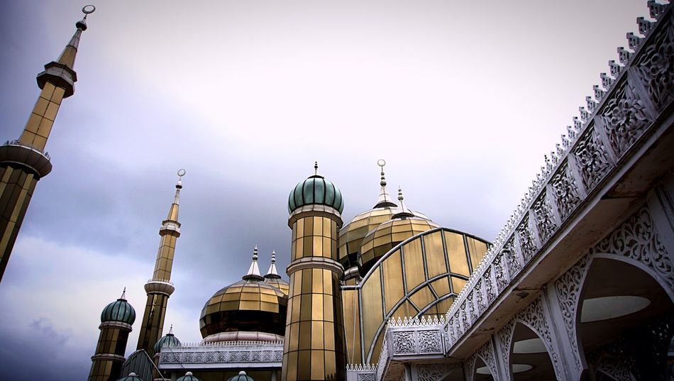 Cristal Mosque | Kuala Terengganu Malaysia Truly Asia Malaysia Kuala Terengganu Terengganu Religion Dome Architecture Place Of Worship Built Structure Low Angle View Spirituality Day Sky No People Outdoors