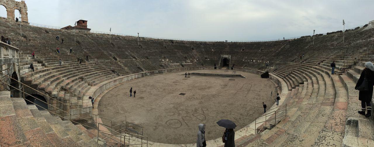 In the amphitheatre Arena , Verona Gladiator Christmas Good Times
