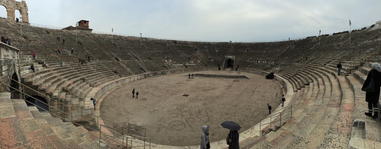 In the amphitheatre Arena , Verona Gladiator Christmas Good Times