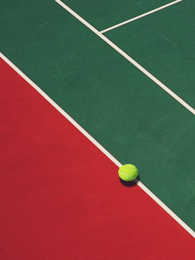 Sport Tennis Tennis Ball Red Green Color Court Creative Space 17.62°