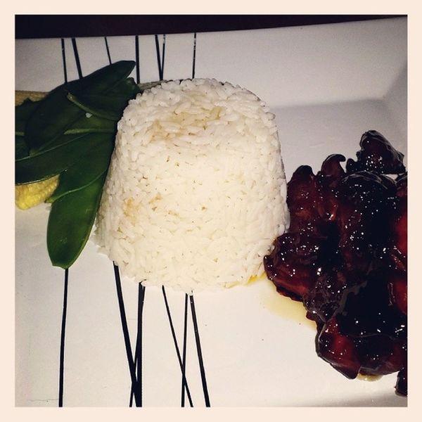 Fancy dinner Asianfood Teriyakichicken Rice Homemade