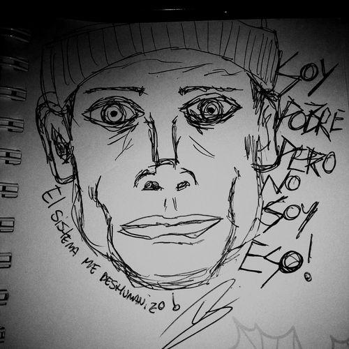 basta. Art Bästa Poorpeople Fucksociety Human Face Paper Men Doodle Mid Adult Men