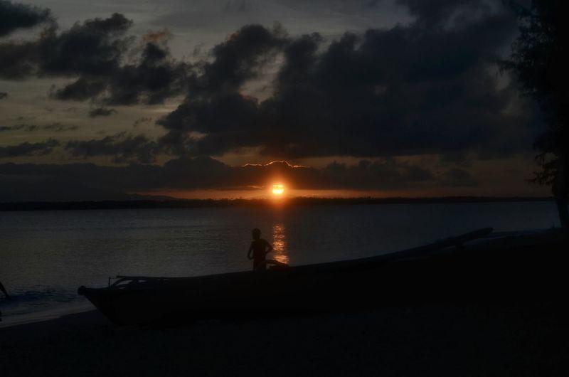 Learn & Shoot: After Dark Apuao Island Camarines Norte Philippines Beach Dawn Sunset Sunset Silhouettes Boat Golden Hour Eyeem Philippines