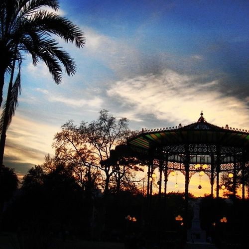 Vecchia cassa armonica nella Villa Comunale, Napoli Villacomunale CassaArmonica Napoli Tramonto Neapolis Naples Sunrise Suncity