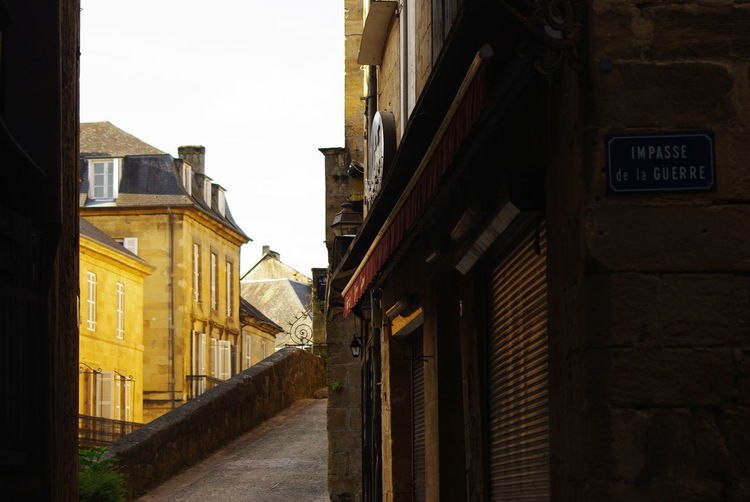 The Streets Of Sarlat In The Dordogne Architecture Building Exterior Built Structure Day No People Outdoors Sky