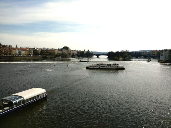 Water Nautical Vessel River Business Finance And Industry Sky No People Bridge - Man Made Structure City Tree Outdoors Pedal Boat Day VltavaRiver Vltava