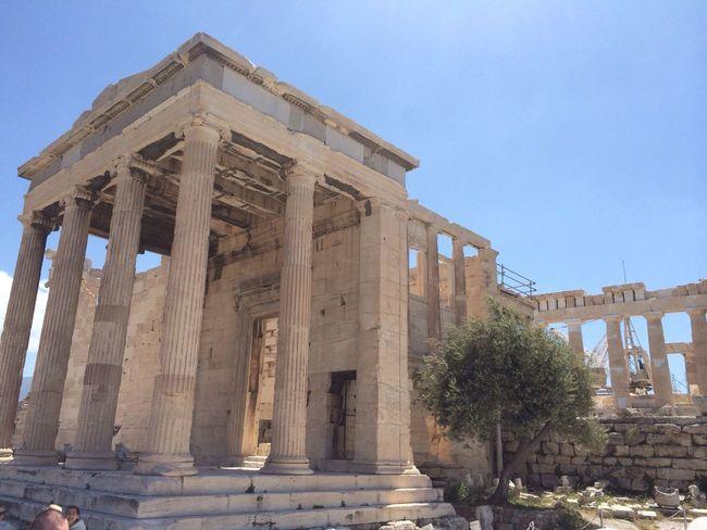 Historical Sights Ancient Architecture Athens Acropolis Landmark