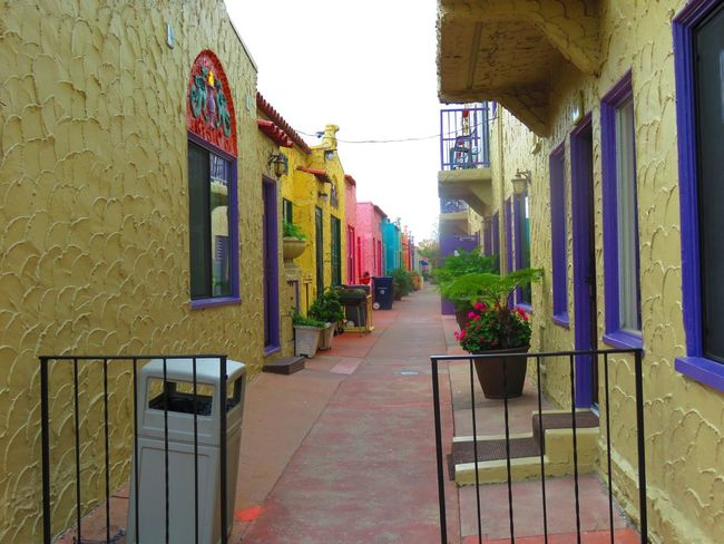 Day Outdoors Architecture Built Structure Building Exterior Sky Colorful Walkway Vacation rental units EyeEmNewHere Capitola River Walk, Quaint Vintage. River Front.
