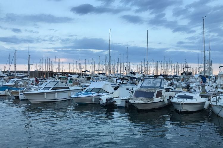 Cannes Nautical Vessel Transportation Mode Of Transportation Moored Water Cloud - Sky Harbor Sky Sailboat Mast Sea No People Yacht Outdoors