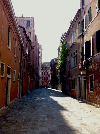 Venice #Italy Venice Sun Streetphotography Street Brick Wall
